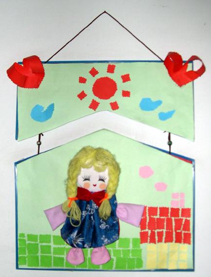 幼儿园环境布置32:小女孩