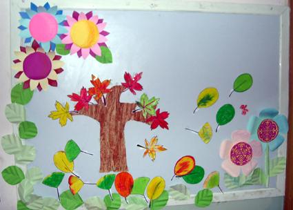 幼儿园环境布置:漂亮的手工制作