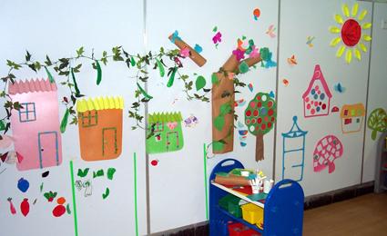 幼儿园墙面布置:美丽的房子