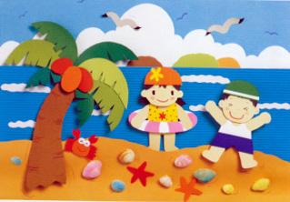 幼儿园环境布置:椰树下的回忆-手工-图片- 资源下载图片