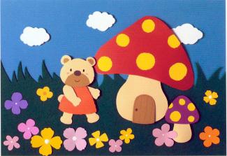 儿园环境布置 小熊的蘑菇屋