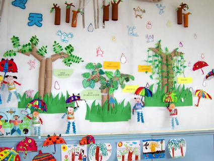 幼儿园环境布置:下雨了