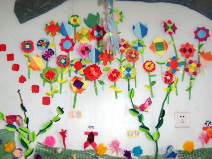 幼儿园环境布置:绿树红花