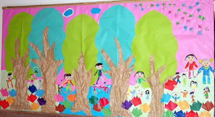 幼儿园环境布置:树林里的活动