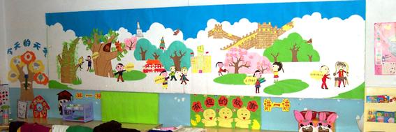 幼儿园环境布置图片8:墙面布置图片;