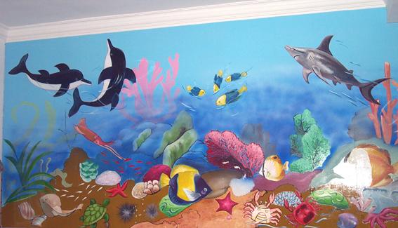 幼儿园墙面布置:神奇的海底世界2