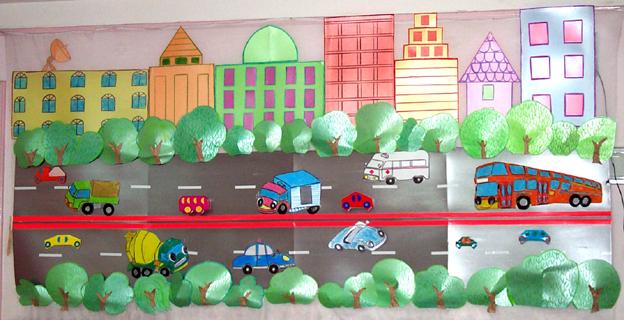 幼儿园海洋主题墙边框设计图片展示