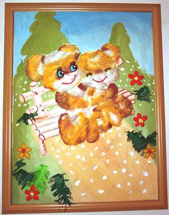 幼儿园 墙面设计 小熊 废旧物 制作 图片 资源