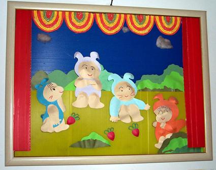 幼儿园墙面设计:动物舞台剧