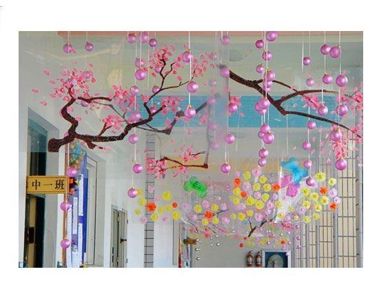幼儿园走廊吊饰:春花烂漫