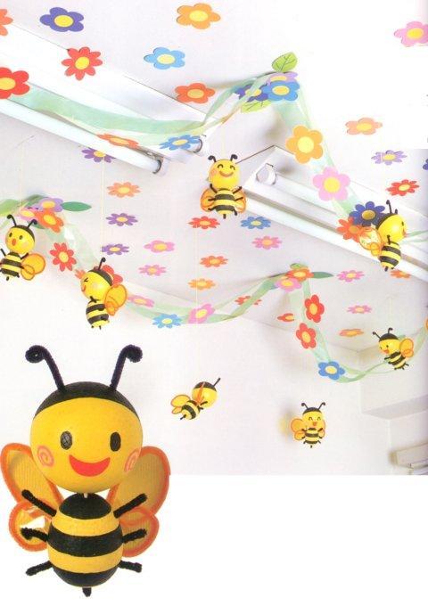 幼儿园吊饰图片:可爱的小蜜蜂
