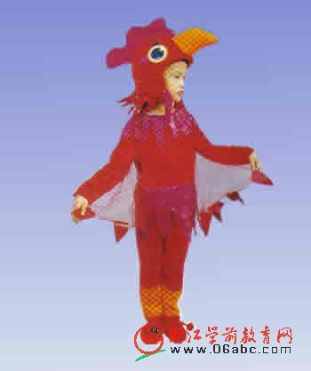 红公鸡幼儿演出服动物服幼儿园童话剧服装