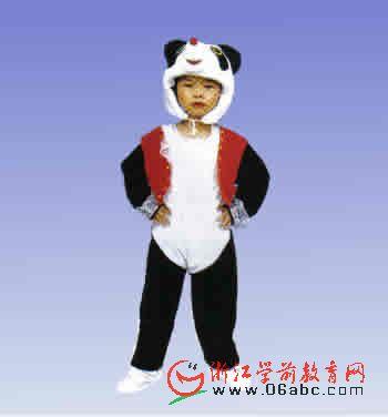 大熊猫幼儿演出服动物服幼儿园童话剧服装