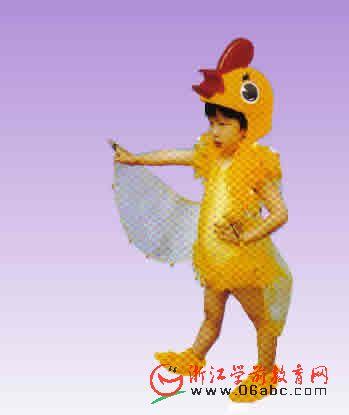 小鸡儿童节目演出服装幼儿园六一动物服童话剧服装