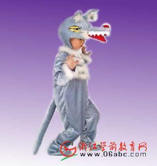 大灰狼动物服装/儿童节目演出/幼儿童话剧服饰