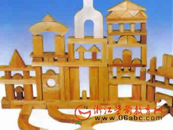原色实心积木210件(带玩具柜一个) - 建构区 - 幼儿园-区角玩具 建构