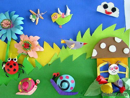 幼儿园夏天主题墙布置/环境创设