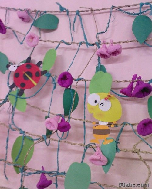 幼儿园春天主题墙饰:春天来了-幼儿园大班主题墙
