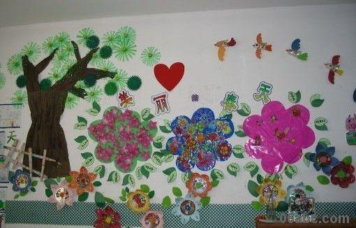 幼儿园春天主题墙饰:春天来了-幼儿园大班主题