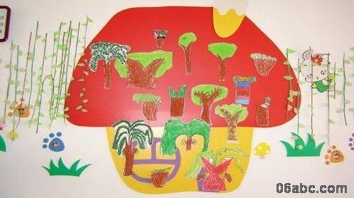 寻找春天主题墙幼儿园