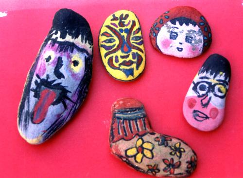 大班美术教学活动:石头上的创意-五大领域-幼儿教育