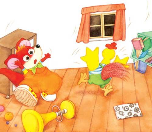 童话小故事:地震了(图文)-动物故事-幼儿故事