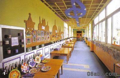 """""""美术长廊""""环境创设图(一)-宁波市实验幼儿园"""