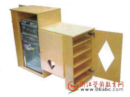 枫木范茶水柜/幼儿园用品/实木家具 - 口杯架 - 幼儿