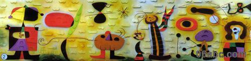 儿童攀岩(仿米罗抽象画)/游乐园