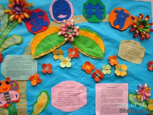 幼儿园家园栏布置:家园共育图片
