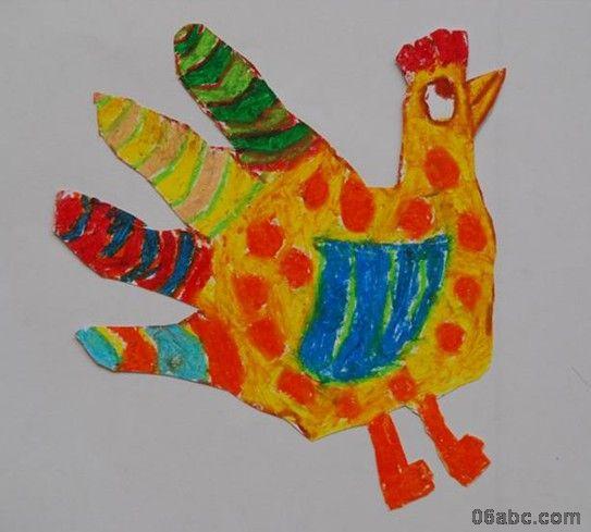 大班美术绘画作品 有趣的手形画