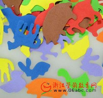 幼儿园 益智智慧树 材料 美劳手工美工 美术 diy 材料 eva动物; 幼儿