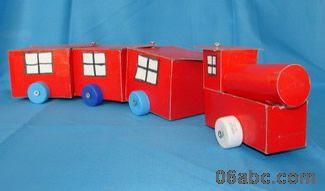 幼儿园环保手工制作 汽车图片