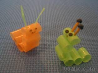 废弃物再利用手工制作:吸管diy