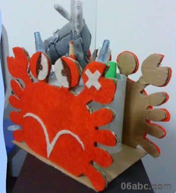 幼儿园手工制作图片:小螃蟹