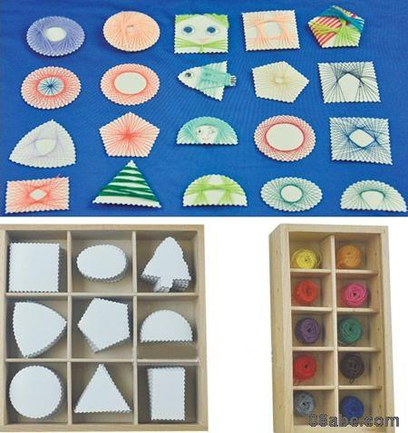 绕线工组/手工编织用具 - 美劳区 - 幼儿园教具