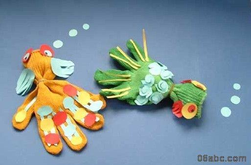 幼儿园手工制作:可爱的小动物(手套制作)