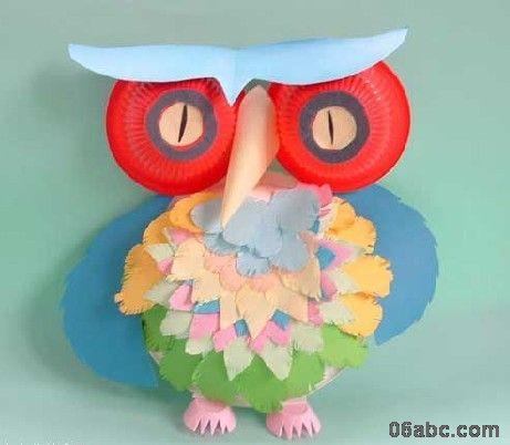 幼儿园手工制作图:可爱的猫头鹰