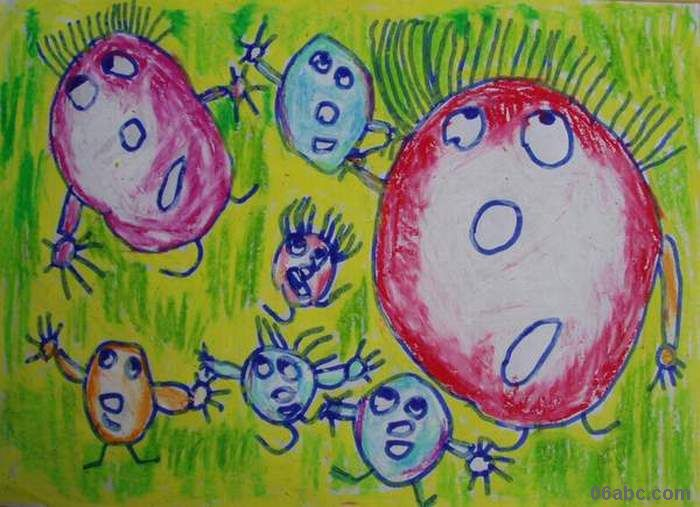幼儿园教案 美术 小班美术:豆豆宝宝图片