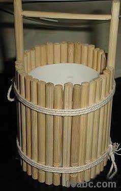 一次性筷子手工制作:小水桶