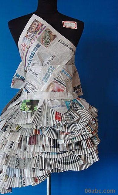 废旧报纸创意制作比赛幼儿教师作品展-废旧物制作 竖
