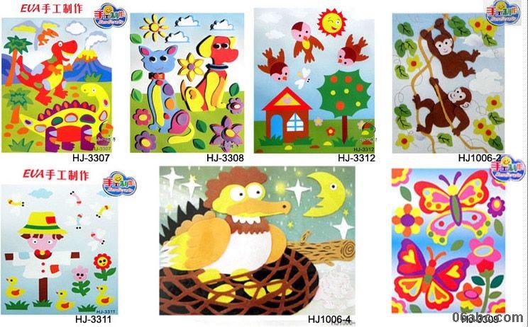 商城首页 幼儿园教具 美术室 > > 星空下(eva手工制作材料包)/diy趣味图片