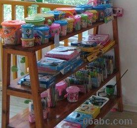 幼儿园活动区布置 美工区