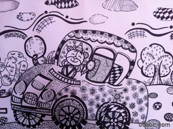 感悟童心----格兰云天幼儿园教师线描画作品展