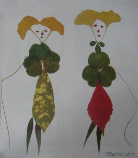 大班歌曲小树叶教案_搜集了一些树叶贴画的作品-手工-图片- 资源下载 - 浙江学前教育网