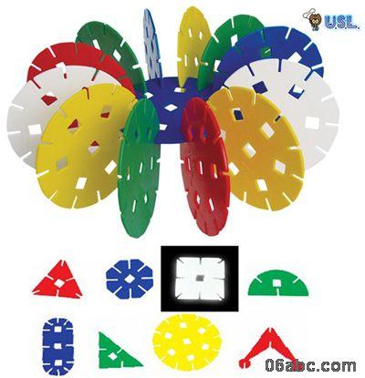 包邮大花片e10306-ap正品游思乐儿童玩具积木八形塑料拼插积木