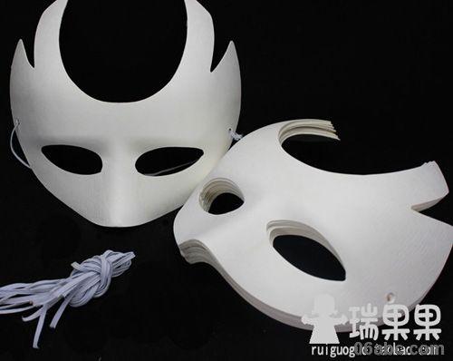 环保纸浆面具王者/白模上色涂色白坯/瑞果果儿童