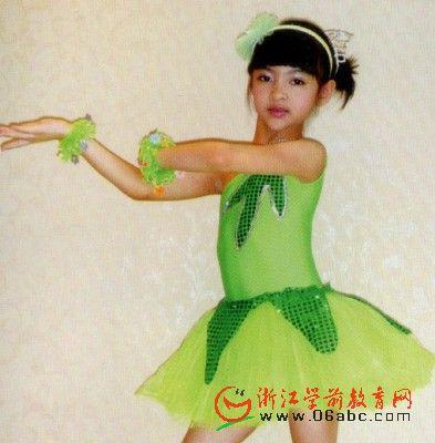 树叶纱裙/儿童舞蹈服装/幼儿园表演服