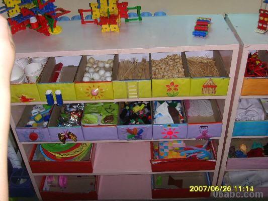 幼儿园活动区布置:美工区(半成品材料)