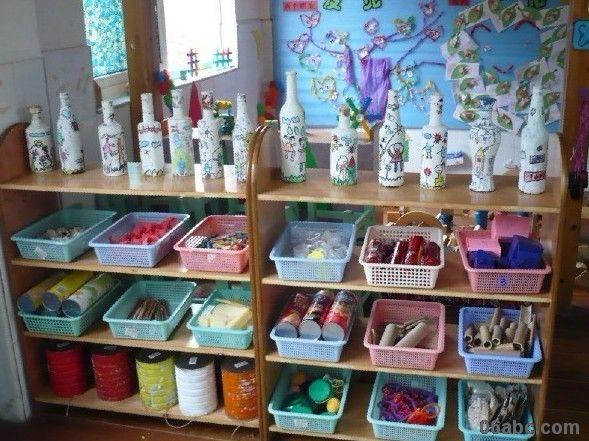 幼儿园区角布置:美工区